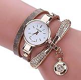 🌺🌺🌺Materiale cinturino: pelle PU, movimento: quarzo. 🌺🌺🌺Diametro del quadrante: 2,5 cm Larghezza del braccio: 0,6 cm Lunghezza del braccio: 55 cm. 🌺🌺🌺Il pacchetto include: 1pcs orologio da polso al quarzo.