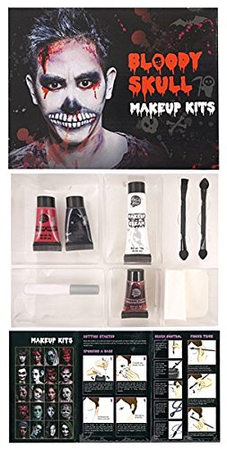 Make Skull Up (Make Up Kit Bloody Skull)