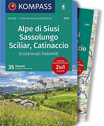Alpe di Siusi, Sassolungo, Sciliar, Catinaccio 1:35.000, italienische Ausgabe: Wanderführer mit Extra-Tourenkarte 1:35.000, 35 Touren, GPX-Daten zum Download. Italienische Ausgabe. di Franziska Baumann