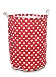 Round Heart Red Laundry Bag