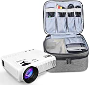 Luxja Carrying Bag for DR.J Mini Projector, Portable Case for DR.J Projector and Accessories Gray