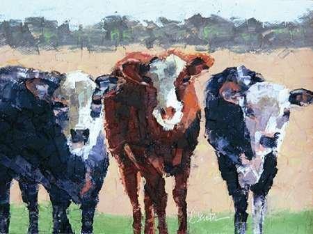 Drei Trikots von seata, Leslie–Fine Art Print erhältlich auf Leinwand und Papier, canvas, SMALL (19 x 14 Inches ) (Animal-print Trikots)