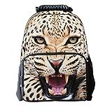 Le sac à dos d'école d'enfants d'impression animale de 3D a senti le sac à dos de guépard des enfants 3D de tissu pour l'ordinateur portable