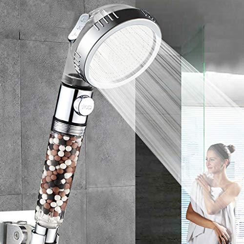 kjhgji Soffione doccia Soffione doccia Water SPA con pulsante di arresto 3 soffione doccia regolabile ad alta pressione