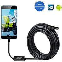 SHEKAR 2.0 Megapixel HD 5.5mm Endoskop Android USB Endoskop Kamera 3 in 1 USB / Micro USB / USB C Endoskop Inspektionskamera Snake Kamera Wasserdichte 5M Semi Rigid Kabel