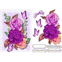 dise/ño de tulipanes topper por Ann-Marie Vaux Negro S/ólo para usted 7/in Decoupage de servilleta