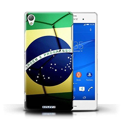 Kobalt® Imprimé Etui / Coque pour Sony Xperia Z3 / Portugal conception / Série Nations de Football Brésil/Brésilien