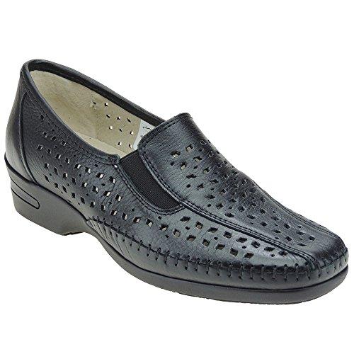S@KUT - Zapato Comodón En Piel Calado Y Cuña De 4CM -...