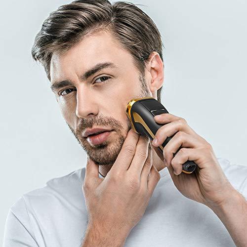 FLYCO Rasierer Herren Elektrisch Rasierapparat Trockenrasierer mit Pop-up Trimmer 3 Scherköpfen Doppelring Präzisionsklingen für Täglicher und Reisen Perfekt Geschenk für jede Gelegenheit