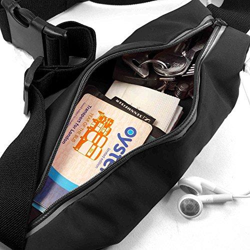 Tuff-Luv Wasserbeständige Sport Runners Gürteltasche Gürteltasche für iPhone 6s - Schwarz iP6 Black