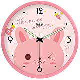 LTYGZ Regarder l'horloge chat cartoon art jardin prix créatifs lumineux horloge Quartz résine muet,Rose,25,5 cm