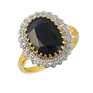Ivy Gems 9ct Yellow Gold Sapphire and Diamond Solitaire Ring Size H