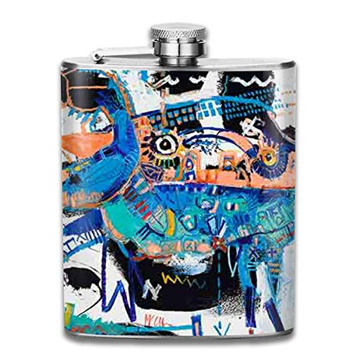 Presock Flachmann,Graffiti Octopus Clipart Fashion Portable Stainless Steel Hip Flask Whiskey Bottle for Men and Women 7 Oz -
