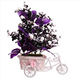 #10: JaipurCrafts Premium New Arrival Forever Collection Cycle shape Flower Vase with Mix Flowers Bunches