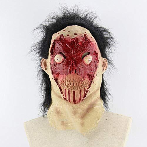 Circlefly Blut-Gesicht platzen Auge Horror Zombie Perücke Halloween Kostüm Kleid Maske geeignet für Erwachsene Kinder Tragen (Zombie-gesichter Für Halloween Für Kinder)