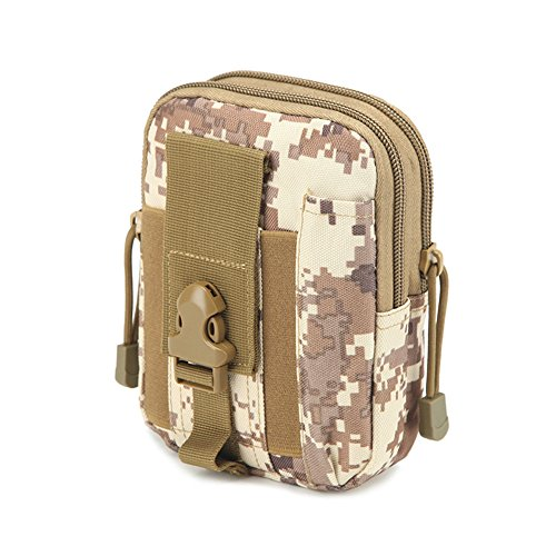 Militare molle Tactical waist bag in sacchetto del telefono Outdoor Wilderness camping hiking bag, Camouflage#1 Camouflage#3