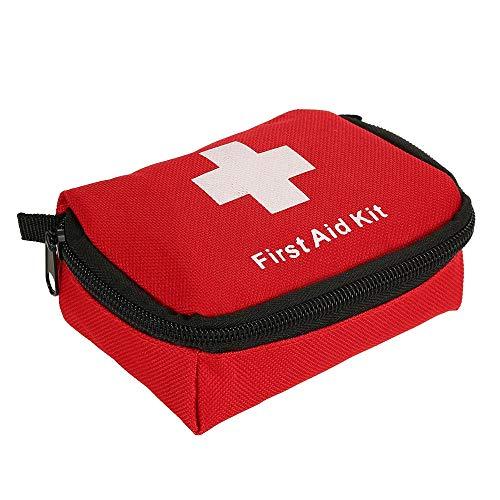 35 Stücke Erste-Hilfe-Kit Outdoor Notfall Kit Tasche Kleine Erste Hilfe Tragbare Reisetasche Medizinische Essentials Perfekt für Home Camping Büro Wandern (Color : Red, Size : M)