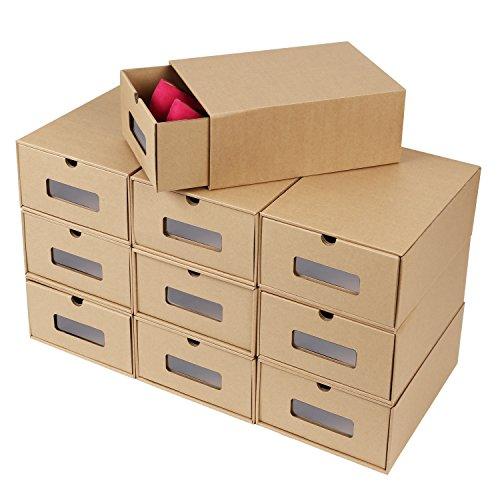 💖Por qué nos eliges💖 💖Comparadas con las cajas de zapatos de plástico en el mercado, las cajas de zapatos de papel son más respetuosas con el medio ambiente, más de moda, más fáciles de montar y más largas de usar. 💖No solo se puede usar para almacen...