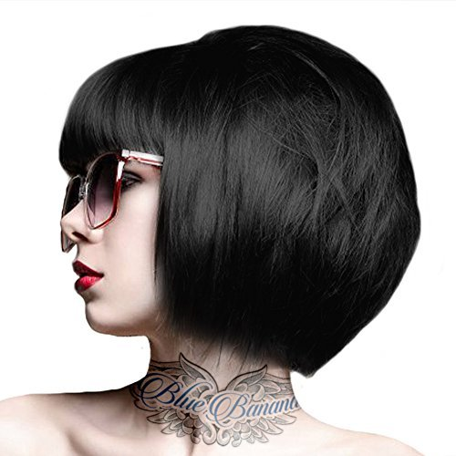 Crazy Color Unisex Semi-Permanent Colour Hair Dye 100ml - One Size, Black by Crazy Color Hair Dye