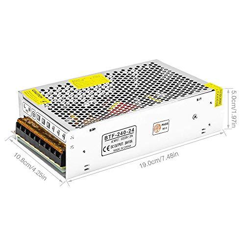 BTF-LIGHTING DC24V 10A 240W Aluminium Netzteil für 5050 LED Streifen Module Licht -