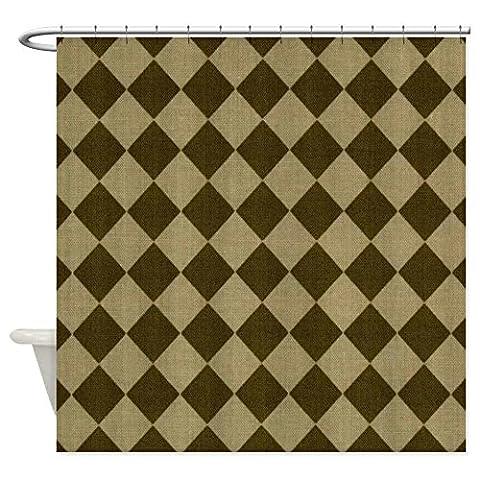 Maskuline Schachbrett Dusche Vorhang–Dekostoff Vorhang für die Dusche