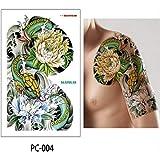 5 Pezzi Grande Tatuaggio Petto Braccio Braccio Spalla Grande Tatuaggio Tatuaggio trasferimento Acqua Grande Uomo 32 * 24cm Adesivo Tatuaggio - Grande Pancia PC04 32cm * 24cm