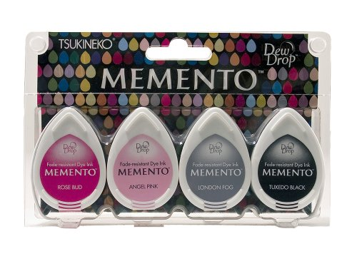 Tsukineko MDIP100-006 Girls Night Out Memento Stempelkissen Set, Synthetic Material, Mehrfarbig, 14.3 x 9.3 x 2.5 cm