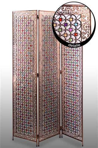 CAPRILO. Biombo Árabe Decorativo Metal Resina Dormitorío