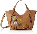 Desigual Amelie Rossoterdam Shoulder Bag CamelDati:o Materiale: Esterno 100% poliuretano, all'interno 100% Poliestereo Dimensioni: Larghezza 45 cm, altezza circa 28 cm, profondità di circa 5 cmo Colore: Camel (Marrone / viola / giallo)o Fabbricante: ...