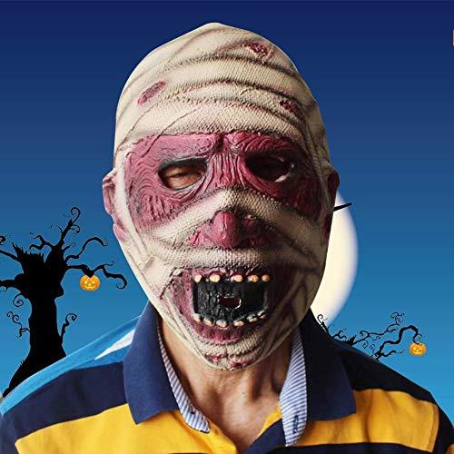 Scary Kostüm Mumie - FLY FLU Halloween Masken Erwachsene,Horror Latex Maske Mumie Kopfmaske Für Halloween Erwachsen Party Kostüm Cosplay