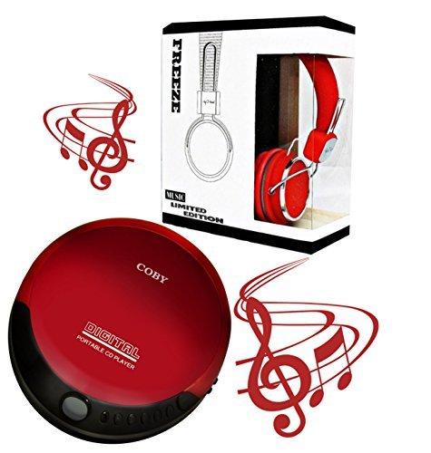Coby lettore CD portatile compatto (rosso)
