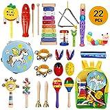 Yetech 22Pcs Juguetes Musicales Instrumentos Musicales Música Juguete Instrumento Educativo Bebés Regalos para los Niños