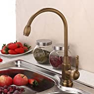 SHUYOU® Vintage Style Antique Brass Finish Single Handle Kitchen Faucet/Bathroom Sink Faucet