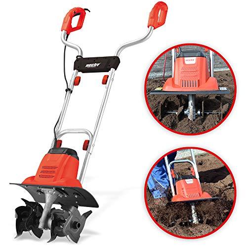 Brandneue Hecht Bodenhacke für einen schönen Garten - Perfekt zum auflockern und umgraben Ihrer Erde - Mit 36,5 cm Arbeitsbreite und leistungsstarken 1000 Watt Motor