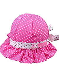SODIAL(R) Neue suesse nette Baby-Kinder so Tupfen Sommer-Huete Caps Rose Red