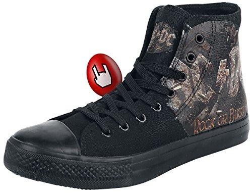 Dc Girls Hoodie (AC/DC Rock or Bust Sneaker Schwarz EU44)