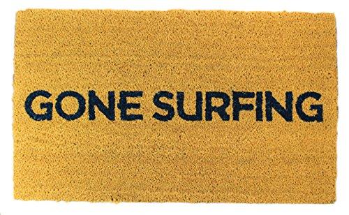 ser Fußmatte 45,7x 76,2cm Outdoor/Indoor Extra dicke Tür Matte Vinyl Gummi Unterseite, dark navy print, für alle Wetter & Jahreszeiten, Hund Langlebig, geschütztes Design ()