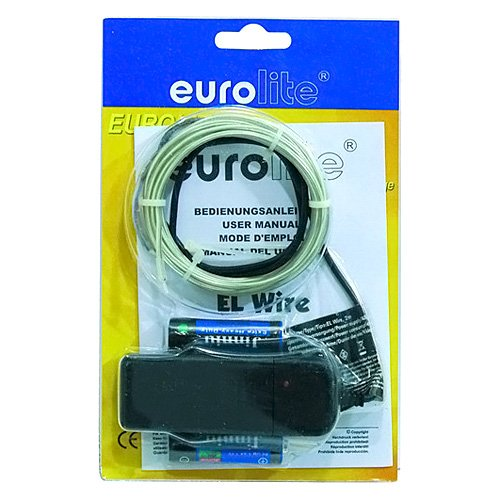 Eurolite 060069 EL Fil de néon 2 mm 2 m Bleu Clair Foncé