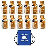 GU Energy Gels – box met 12 gels (verschillende smaakken), inclusief gratis motivatiekoordsluiting/schoenzakje