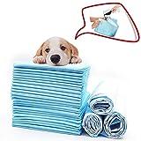 WXLJJYPD Tapis Educateurs pour Chien Puppy Pads Super Absorbant Séchage Rapide Anti-Fuite Antibactérienne Anti-Odeur pour Chiens Toilettes Portables,XL