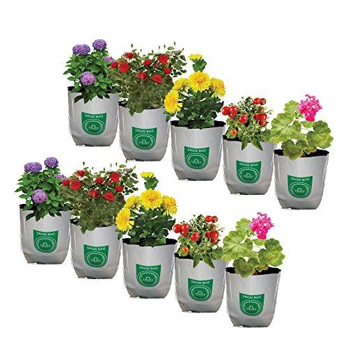 Trust Basket Poly Grow Bags UV Stabilized -10 Qty [20cms(L) X20cms(W) X35cms(H)]