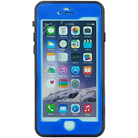 Julyfox Ultra Slim IPX8 Professional Waterproof Case For iPhone 7 Plus(5.5 inch) Scratchproof Buttons and Touch Compatible(Darkblue)