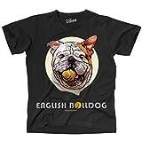 Siviwonder Unisex T-Shirt ENGLISH BULLDOG BALL LUSTIG Englische Bulldogge Hunde schwarz 4XL