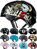 Skullcap® Casco BMX - Casco Skate - Casco Bici, Hombre, Negro, Talla M, Eagle