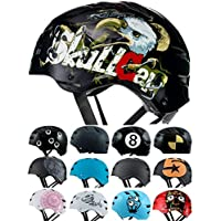 Skullcap Casco BMX - Casco Skate - Casco Bici, Hombre, Negro, Talla M, Eagle