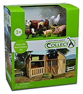 Tachan- Collecta-Granja con Animales, Figura Y Accesorios-89882, Multicolor (90189882)