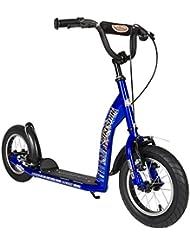 BIKESTAR® 30.5cm (12 pouces) Prime Trottinette Patinette pour les Enfants de 7 ans ★ Couleur Bleu