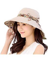 Amazon.es  Sombrero Mujer Sol - Pamelas   Sombreros y gorras  Ropa 97fb1e430e4