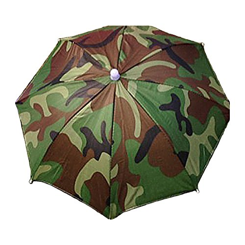 Luwu-Store 1PS tragbar Regenschirm Sun Schutz für Camping Angeln Wandern, Camouflage