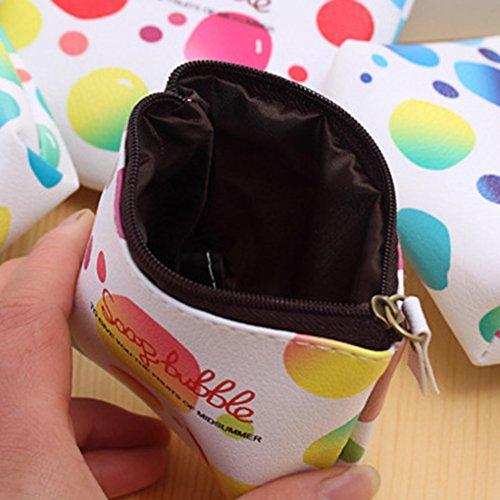 LUFA Borsa portafogli portatile borsa della borsa della borsa della pelle di cuoio delle ragazze sveglie di Pu blu